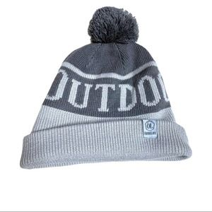 5/$25 Outdoor Life Gray Beanie Poof Winter Hat